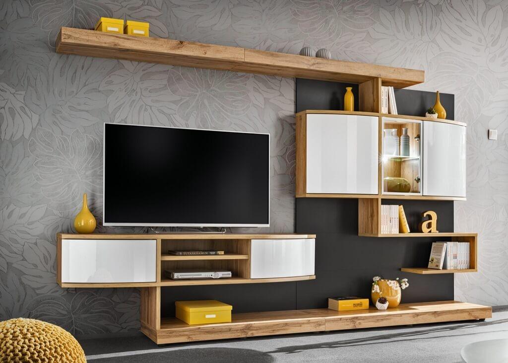 Obývací stěny Obývací stěna Torven (dub wotan, antracit)