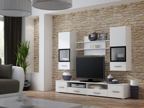 Obývací stěny Snow - Obývací stěna (bílá)