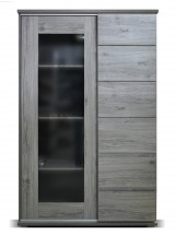 Obývací vitrína Holm (figaro, beton)
