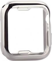Ochranný kryt pro Apple Watch 4/5/6 44mm, termoplast, stříbrná