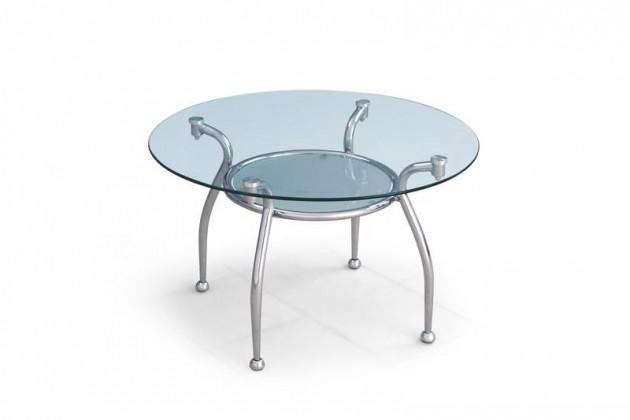 Odkládací stolek Edwin (Sklo/Chrom)