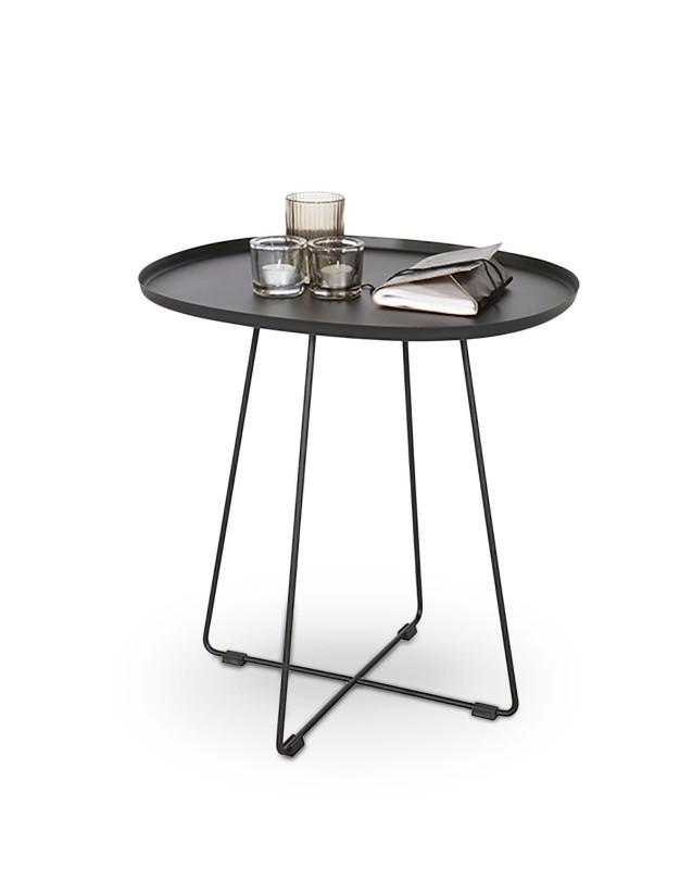 Odkládací stolek Konferenční stolek Tina (černá ocel)