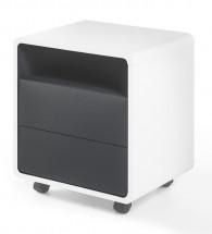 Odkládací stolek Naos (bílá, antracit)