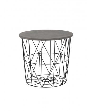 Odkládací stolek Přístavný stolek Mariffa (černá/šedá)