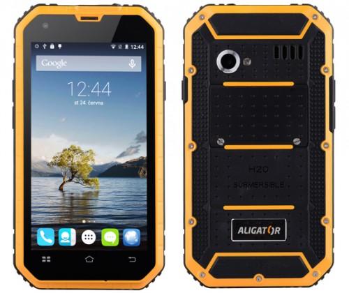 Odolný telefon Aligator RX450 eXtremo, černo-žlutý