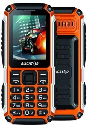 Odolný telefon Odolný tlačítkový telefon Aligator R30 eXtremo, IP68, oranžová