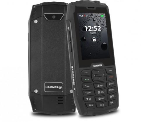 Odolný telefon Odolný tlačítkový telefon myPhone Hammer 4, černá