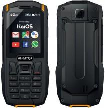 Odolný tlačítkový telefon Aligator K50 eXtremo, KaiOS, oranžová P
