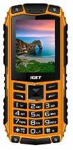Odolný tlačítkový telefon iGET Defender D10, oranžová
