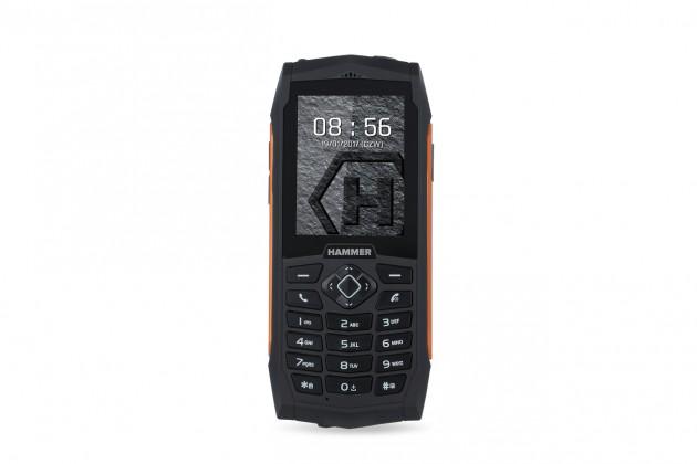 Odolný tlačítkový telefon myPhone Hammer 3, oranžová