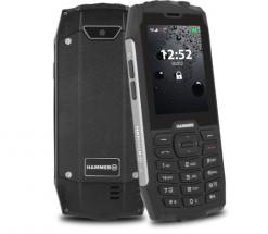 Odolný tlačítkový telefon myPhone Hammer 4, stříbrná