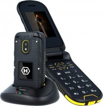 Odolný tlačítkový telefon myPhone Hammer BOW PLUS,černá/oranžová