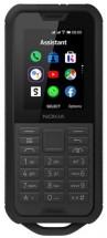 Odolný tlačítkový telefon Nokia 800 4G DS, černá