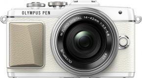 Olympus E-PL7 1442 Pancake Zoom Kit wht/slv