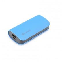 OMEGA POWERBANK 5200mAh 1xUSB 2.1A, kožená, modrá PMPB52LBL