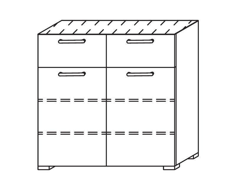 Onella - Komoda, 2x dveře, 2x zásuvka