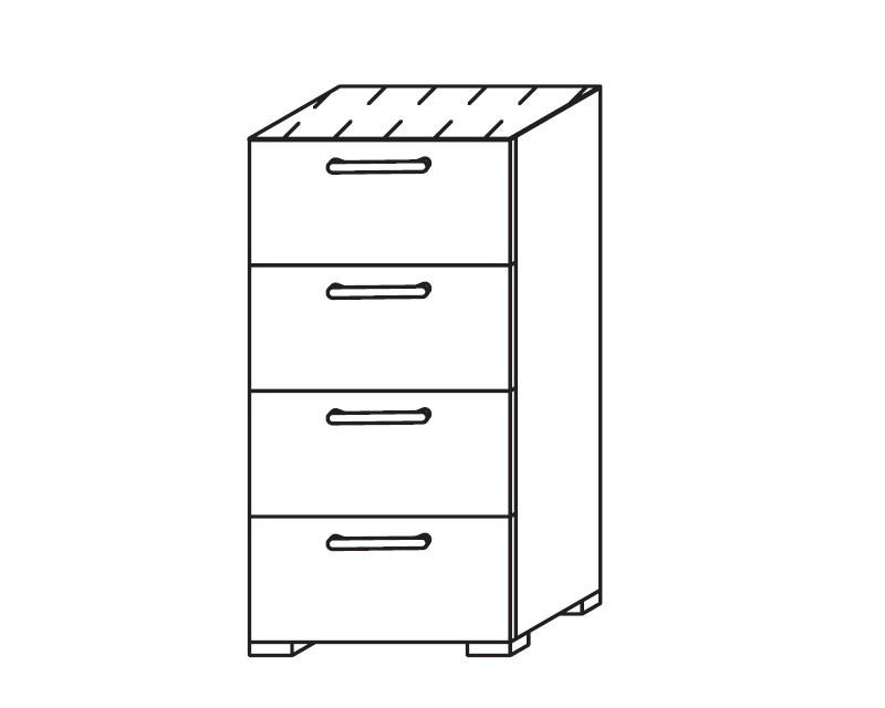 Onella - Komoda, 4x zásuvka