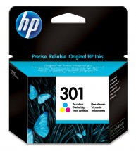 Originální cartridge HP 301 tříbarevná