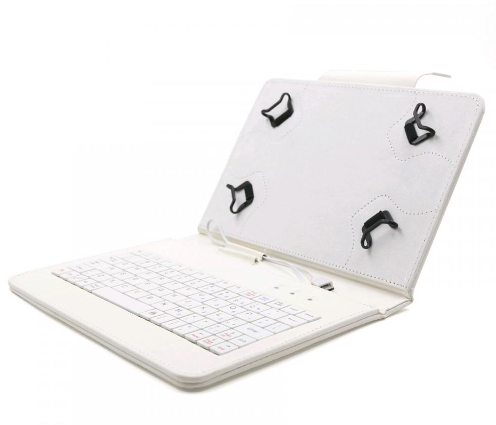 """OSTATNÍ C-TECH PROTECT pouzdro s klávesnicí 7""""-7,85"""" NUTKC-01, bílé"""