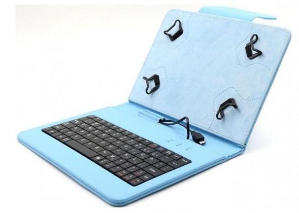 """OSTATNÍ C-TECH PROTECT pouzdro s klávesnicí 7""""-7,85"""" NUTKC-01, modré"""