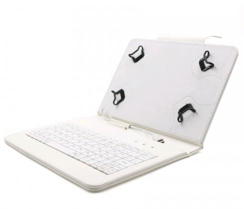 """OSTATNÍ C-TECH PROTECT pouzdro s klávesnicí 9,7""""-10,1"""" NUTKC-04, bílé"""