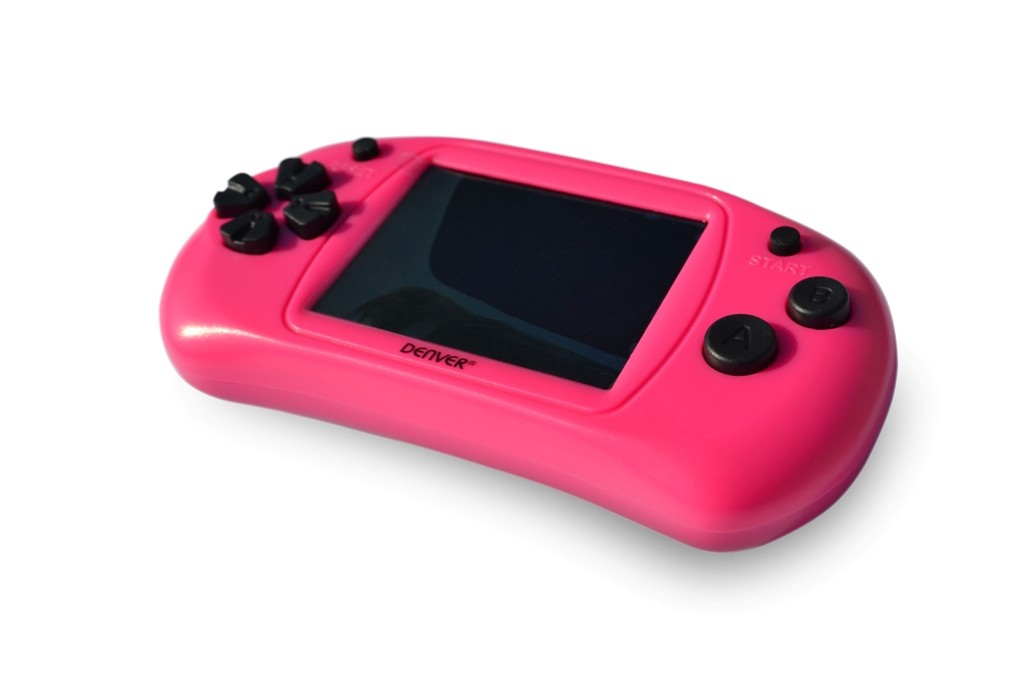 Ostatní hrací konzoly Herní gamepad Denver GMP-240C, 2,4  obrazovka,150 her, růžová POU