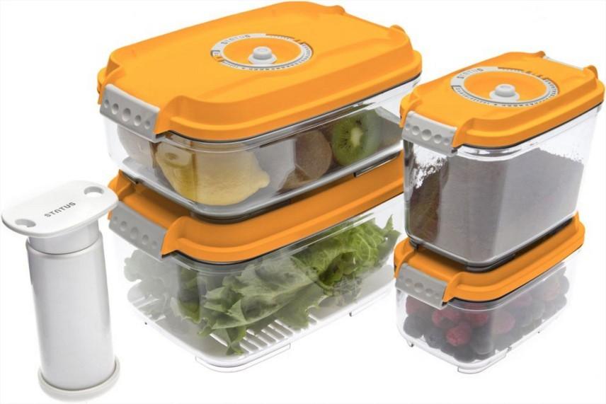 Ostatní kuchyňské potřeby Vakubox Status 157534, 5 dílný set, oranžový