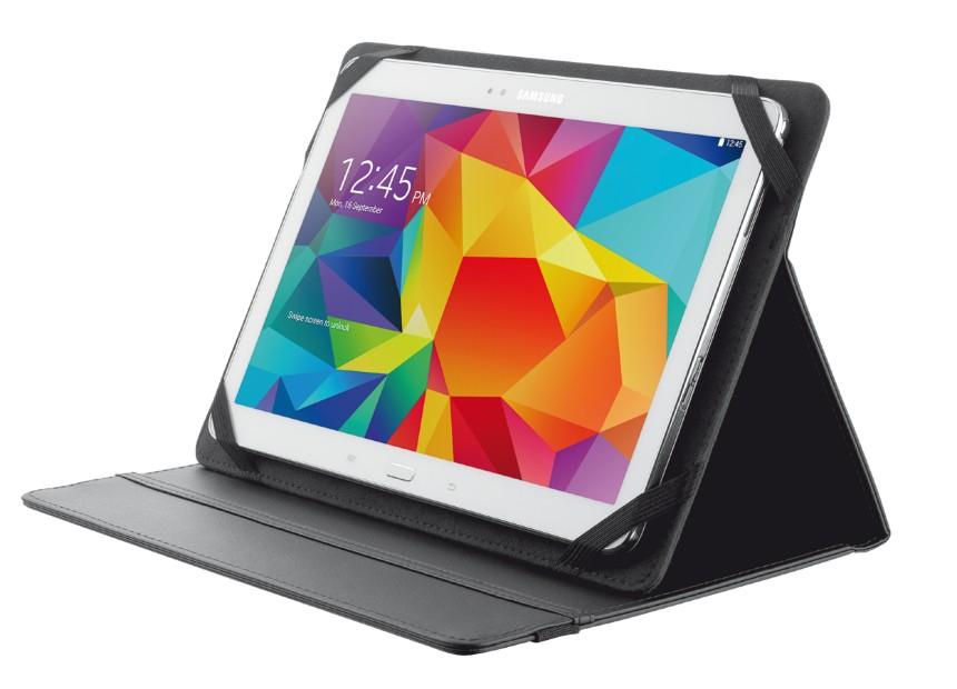 """OSTATNÍ Pouzdro s podstavcem Trust Primo Folio Case pro tablet 10"""",černé"""