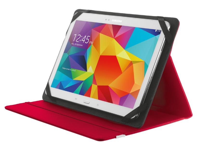 """OSTATNÍ Pouzdro s podstavcem Trust Primo Folio Case, tablet 10"""",červená"""