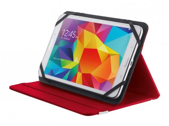 """OSTATNÍ Pouzdro s podstavcem Trust Primo Folio Case, tablet 7-8"""",červená"""