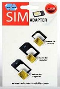 Ostatní příslušenství Adaptér na SIM kartu 3v1 WG