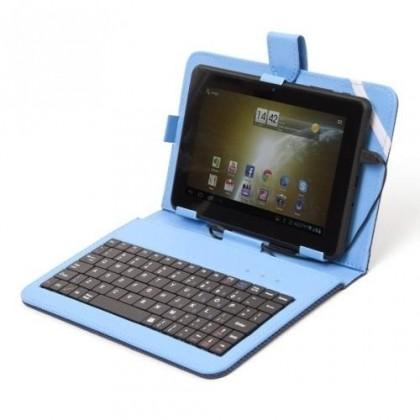 """OSTATNÍ """"Tablet pouzdro s klávesnicí OMEGA OCT7KBIB, 7"""""""" modré ROZBALENO"""""""