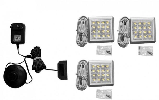 Osvětlení Genetic-IZLED09-03 (bílá / hliník)