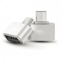 OTG adaptér WG Micro USB na USB s OTG, stříbrná