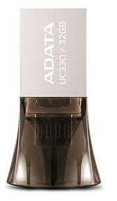 OTG flash disky ADATA UC330 32GB, OTG (micro USB), kovová