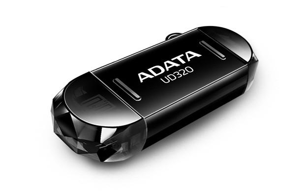 OTG flash disky ADATA UD320 32GB, OTG, (micro USB), černý