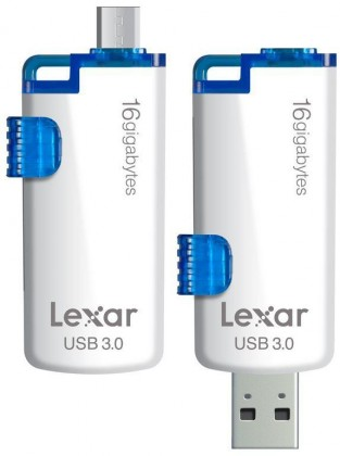 OTG flash disky Lexar JumpDrive M20 16GB bílý-modrý ROZBALENO