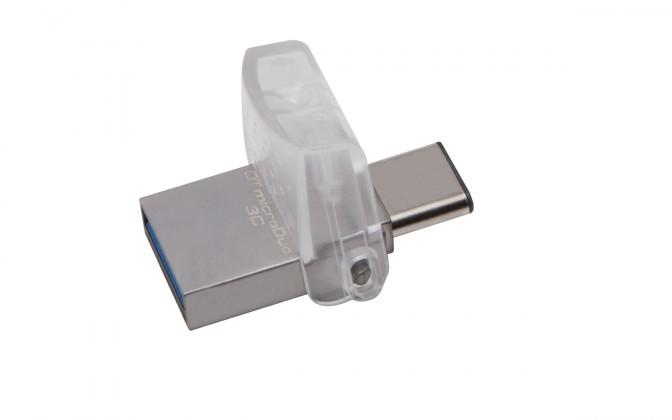 OTG flash disky USB flash disk 128GB Kingston DT MicroDuo 3C,3.0 (DTDUO3C/128GB)