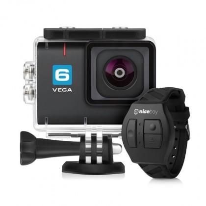 Outdoorová kamera Akční kamera Niceboy Vega 6, 4K, 6ti osá stabilizace + přísl.
