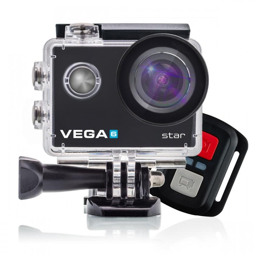Outdoorová kamera Akční kamera Niceboy Vega 6 STAR, 4K, optická stab. + přísl.