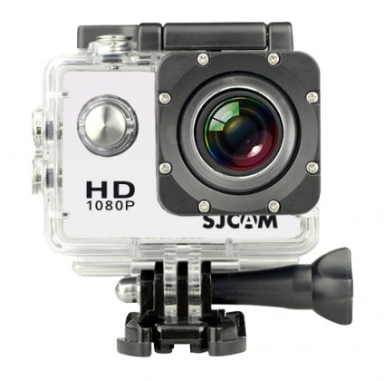 Outdoorová kamera SJCAM SJ4000 PLUS sportovní kamera - bílá