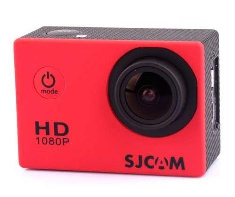 Outdoorová kamera SJCAM SJ4000 sportovní kamera - červená