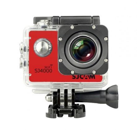 Outdoorová kamera SJCAM SJ4000 WIFI sportovní kamera - červená