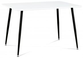 Pablo - Jídelní stůl 120x80 cm (bílý mat/nohy kovové černý lak)