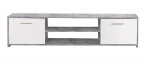 Paco - TV stolek PCOT131 (C264 - beton - korpus/bílé fronty)