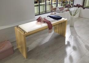 Padua - Odkládací lavice s čalouněním (dub balken/alpská bílá)