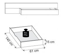 Padua - ÚP pro postel 180x200 cm (dub balken/alpská bílá)