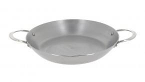 Paella pánev de Buyer 5652.32, železná, 2 ucha, 32cm