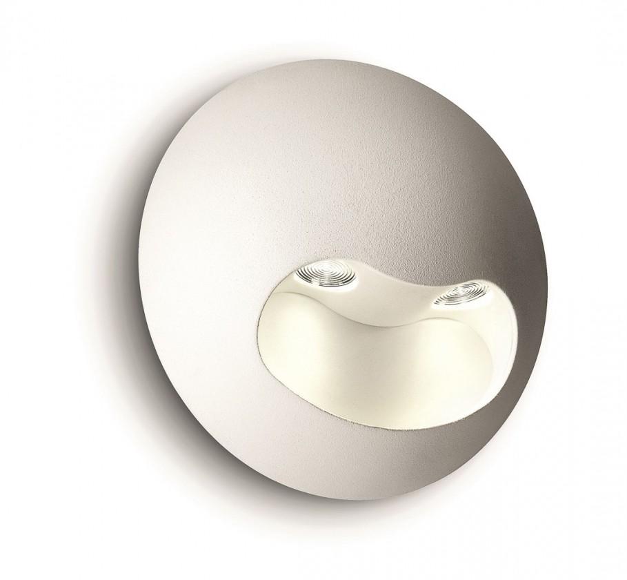 Palermo - Nástěnné osvětlení LED, 13,1cm (bílá)