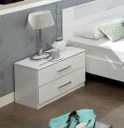 Pamela - Noční stolek (alpská bílá)